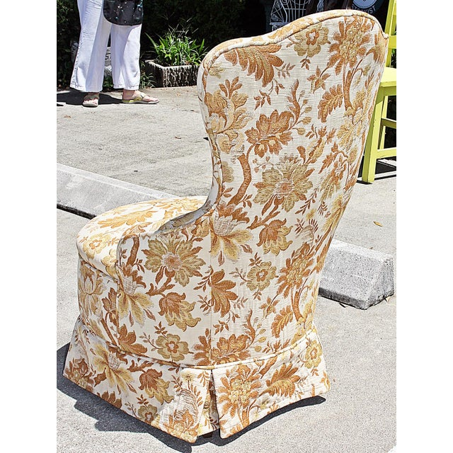 Brocade Slipper Chairs - A Pair - Image 6 of 6