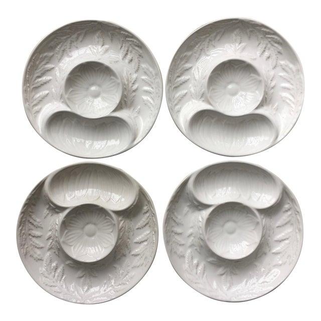 4 Majolica Artichoke Plates-Bentson West Designs For Sale