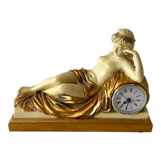 Nude Female Taraniso Mantle Clock For Sale