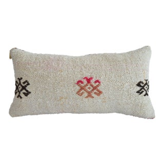Lumbar Pillow Cover. 100% Natural Hemp Kilim Pillow Sham - 13ʺ X 26ʺ For Sale