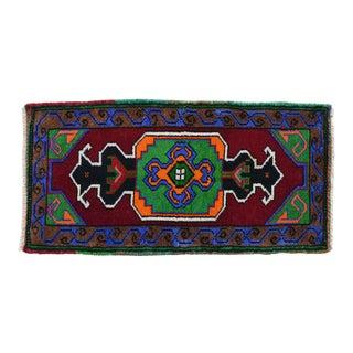 "Hand Made Rug. Colorful Oushak Rug, Bath Mat, Kitchen Sink Decor Doormat 1'7"" X 3'1"" For Sale"