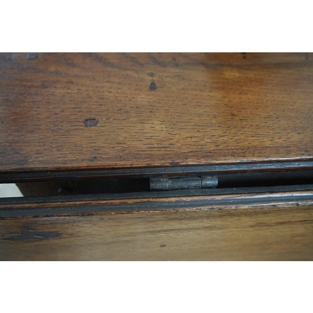 Oak 18th Century English Oak Drop Leaf Gateleg Table For Sale - Image 7 of 13