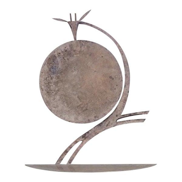 Silvered Metal Karl Hagenauer Giraffe Table Sculpture, 1930s For Sale
