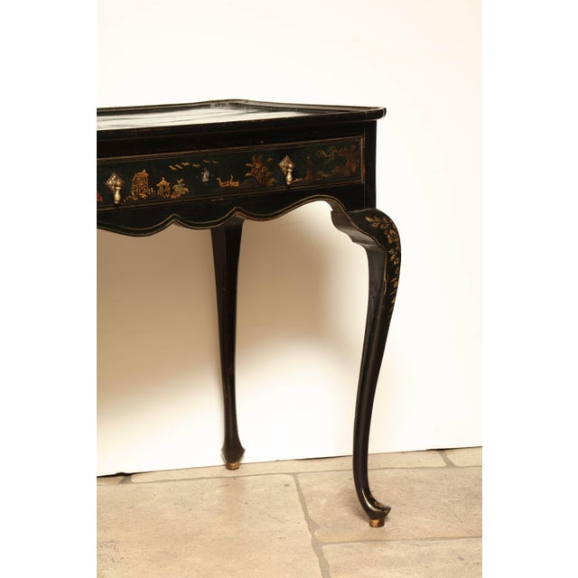 Wood Queen Anne Lacquered Tea Table For Sale - Image 7 of 11