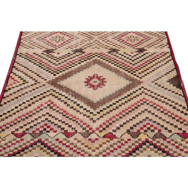 Vintage Turkish Scatter Wool Rug 4 X 7 For Sale - Image 11 of 13
