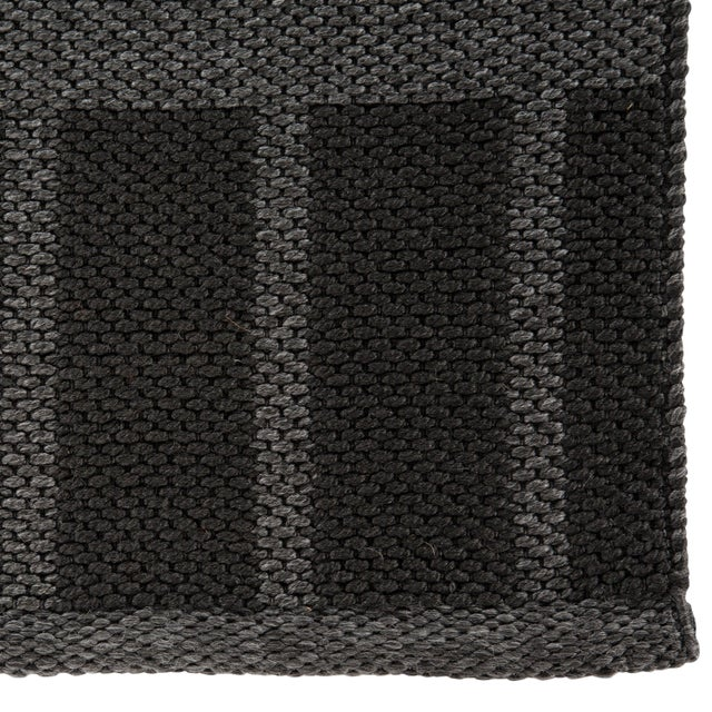 Contemporary Nikki Chu by Jaipur Living Vaise Indoor/ Outdoor Geometric Gray/ Black Area Rug - 7′6″ × 9′6″ For Sale - Image 3 of 6
