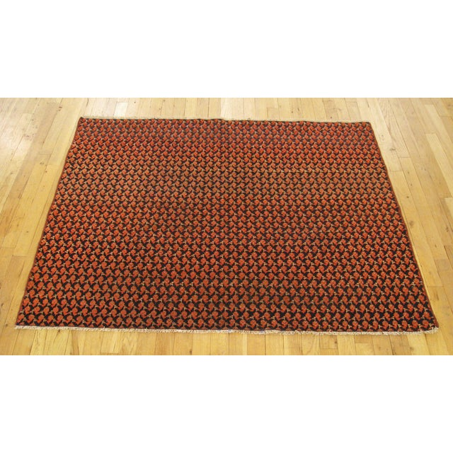 """Antique Persian Saraband Rug 4'7"""" H x 3'6"""" W, in Small Rug Size, circa 1920. This fine floral wool rug features a..."""