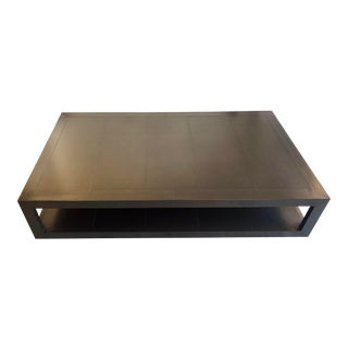 Restoration Hardware La Salle Metal-Wrapped Coffee Table For Sale