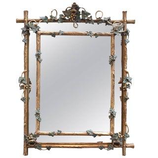 Napoleon III Cushion Style Gilt Mirror For Sale