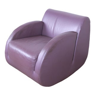 """Vladimir Kagan for American Leather """"Rock Star"""" Modern Leather Rocking Chair For Sale"""
