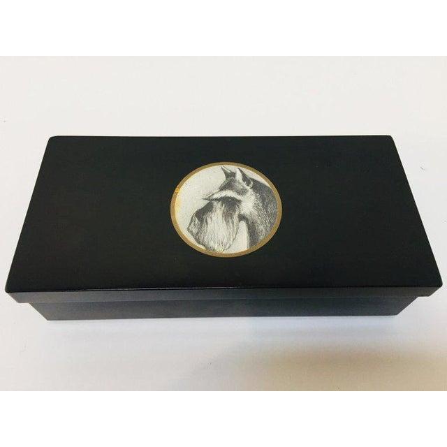 Vintage Bakelite Trinket Hinged Box Couroc of Monterey, Scottish Terrier Inlaid For Sale - Image 12 of 12