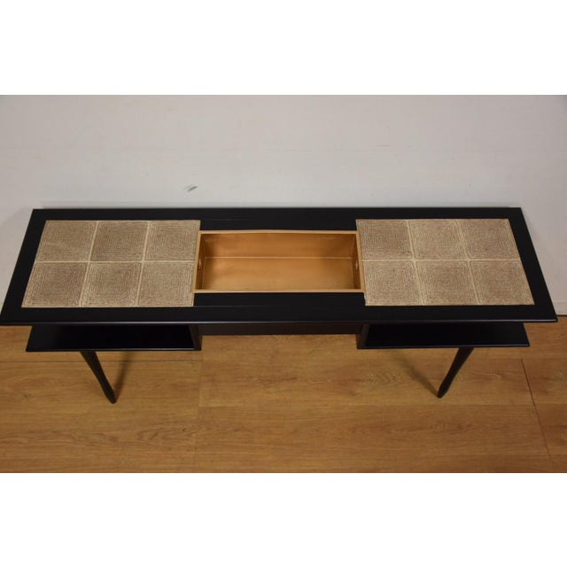 Black Lacquered Tile Planter Console For Sale In Boston - Image 6 of 9