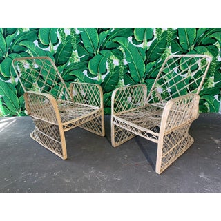 Pair of Russell Woodard Spun Fiberglass Adjustable Lounge Chairs Preview