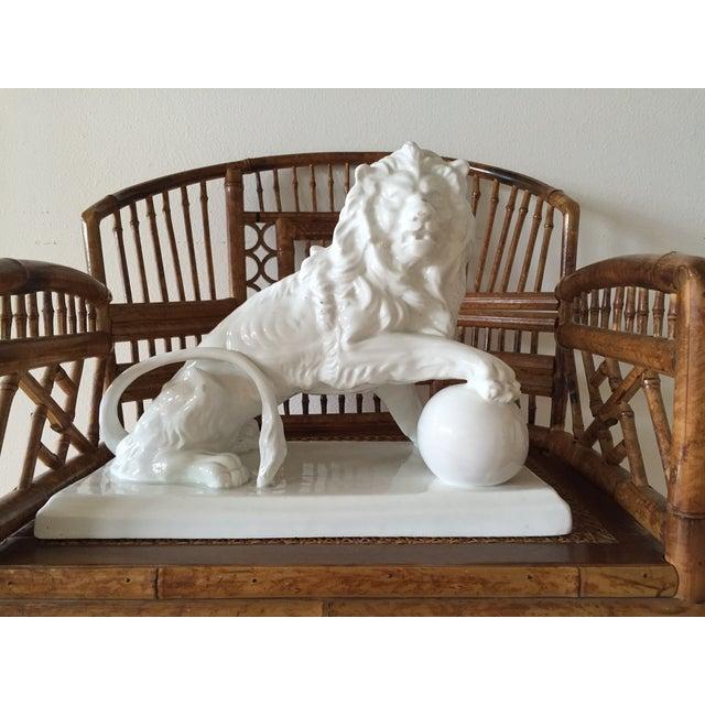 Large Vintage Spanish Ceramic Lion - Image 2 of 6