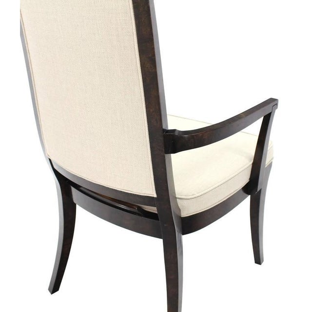 Mastercraft Set of Six Mid-Century Modern Mastercraft Dining Chairs With New Upholstery For Sale - Image 4 of 10