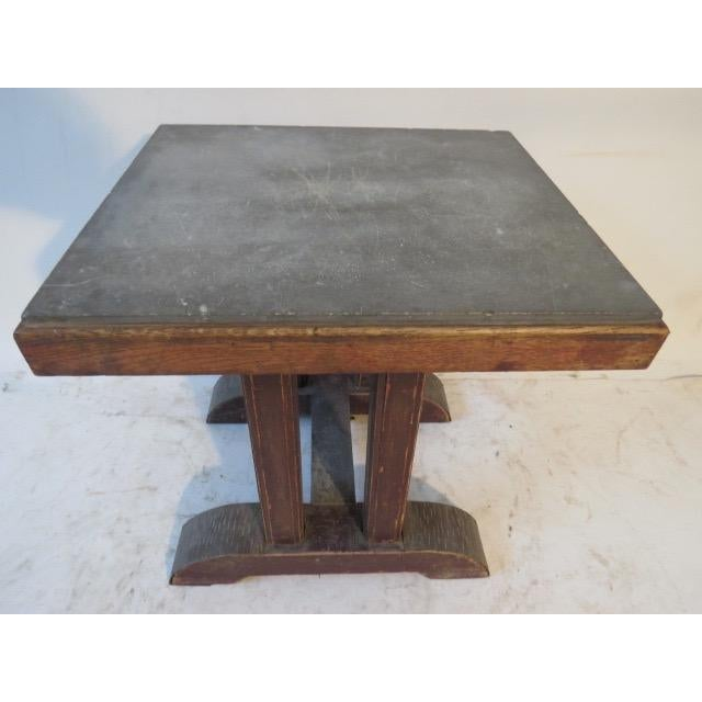 Vintage Marble Top Side Table For Sale - Image 4 of 5