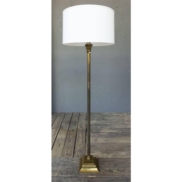 Spanish 1950s Brass Floor Lamp - Image 5 of 6