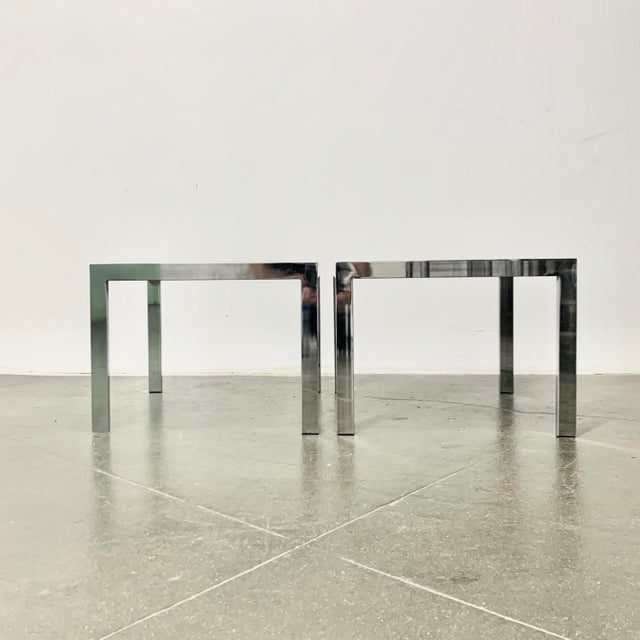 1970s Milo Baughman Side Tables - a Pair For Sale In Los Angeles - Image 6 of 10