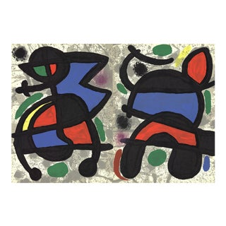 Joan Miro, Derriere Le Miroir, No. 186, Pg 14,19, Lithograph, 1970 For Sale