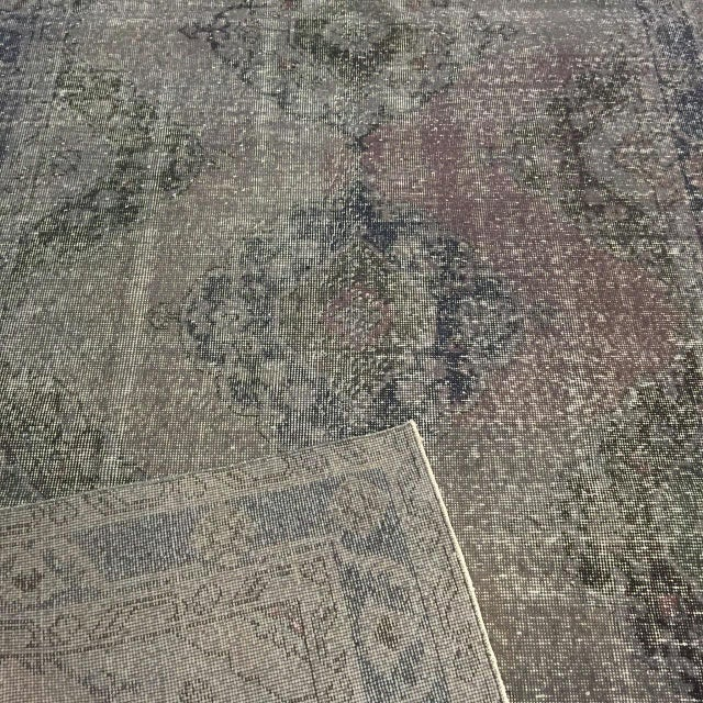 """Contemporary Vintage Turkish Overdyed Runner - 4'10"""" x 12'6"""" For Sale - Image 3 of 3"""