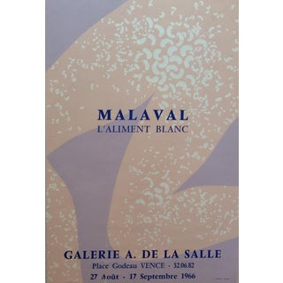 Robert Malaval From Vence France French Art Exhibition Poster For Sale