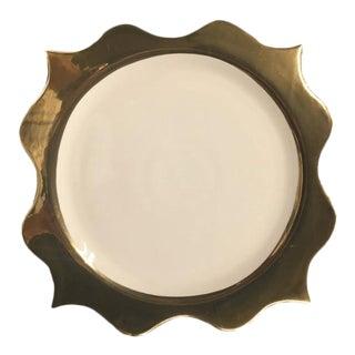 l'Objet Scalloped 24-Karat Gold Wide Rimmed Porcelain Charger Plate