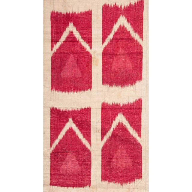 Asian 19th Century Uzbek Silk Ikat Panel For Sale - Image 3 of 6