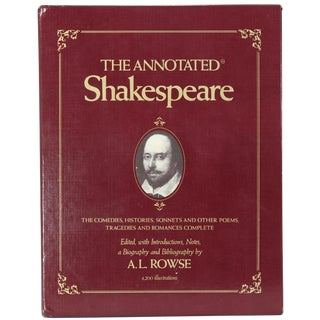 """The Annotated Shakespeare"" First Edition Book For Sale"