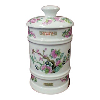 Limoges Asian Lidded Apothecary Jar For Sale