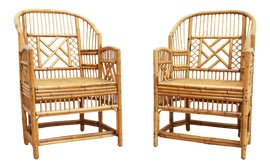 Image of Rattan Club Chairs
