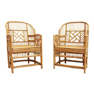 Bamboo Brighton Pavilion Chairs - Chinese Chippendale For Sale