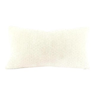 Beacon Hill Arches White Lumbar Chenille Pillow For Sale
