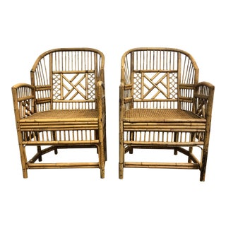 Brighton Pavilion Bamboo & Cain Chairs For Sale
