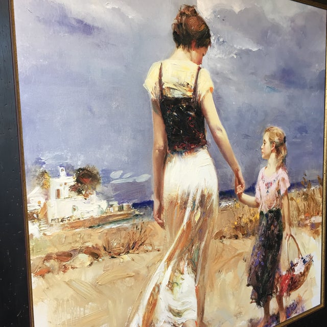 "Italian ""Let's Go Home"" Painting by Pino Daemi For Sale - Image 3 of 9"