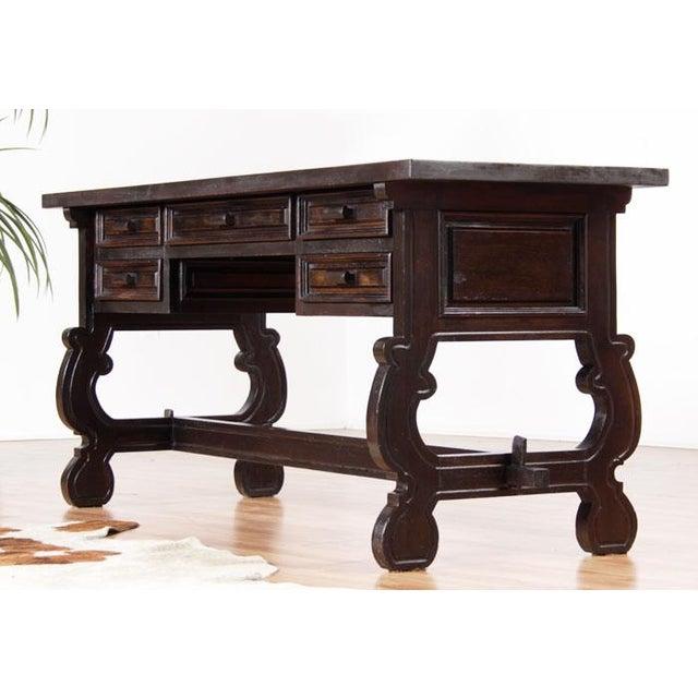 Vintage Spanish Revival Console Desk - Image 2 of 7