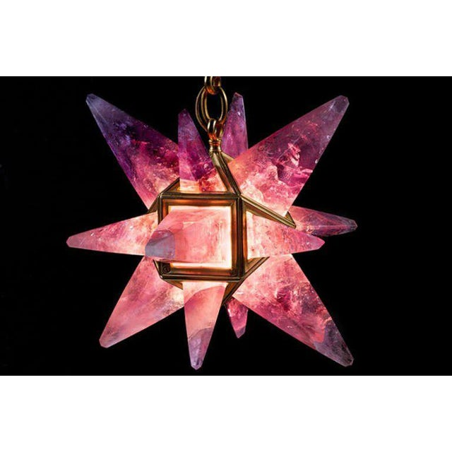 Amethyst Rock Crystal Star Light For Sale - Image 7 of 10