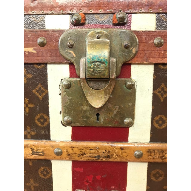 1950s Louis Vuitton Monogram Lady's Steamer Trunk For Sale - Image 11 of 13