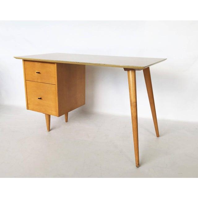 Wood Paul McCobb Planner Group Desk For Sale - Image 7 of 7