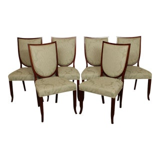 "Kindel ""Knowledge Collection"" Elegant Set 6 Dining Chairs For Sale"