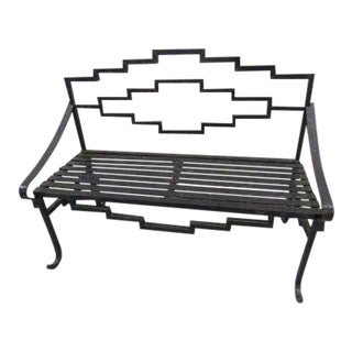 Abstract Iron Bench Chair