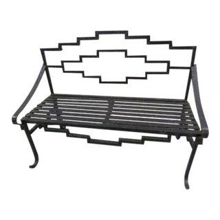 Art Deco Cast Iron Bench Chair