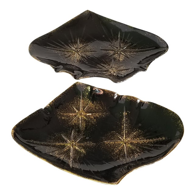Mid-Century Modern California Pottery Serving Platters - a Pair For Sale