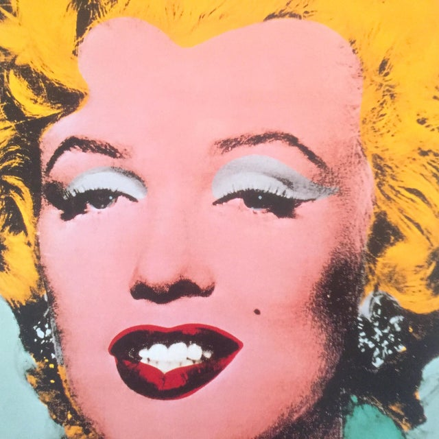 """Paper Andy Warhol Estate Rare Vintage 1989 Collector's Pop Art Lithograph Print """" Marilyn """" 1964 For Sale - Image 7 of 10"""