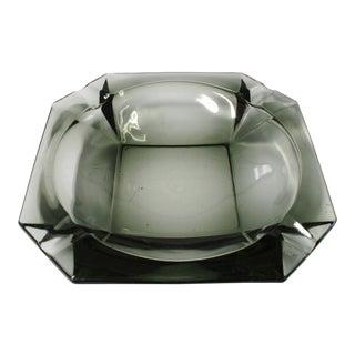Vintage Smoke Glass Ashtray For Sale