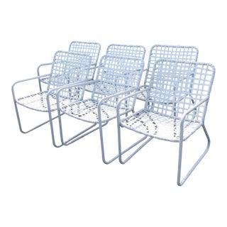 Vintage Mid Century Outdoor Brown Jordan Chairs- Set of 6 For Sale