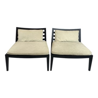 Sleek Flexform Lounge Chairs by Antonio Citterio- a Pair For Sale