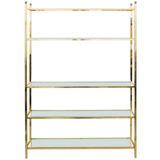 Oversized Brass Etagere For Sale