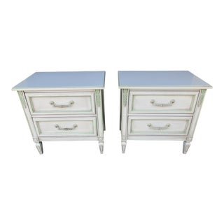 20th Century French Country Style Nightstands - a Pair For Sale