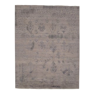 "Modern Pasargad N Y Wool & Bamboo Silk Hand Knotted Area Rug - 7'9"" X 9'11"" For Sale"