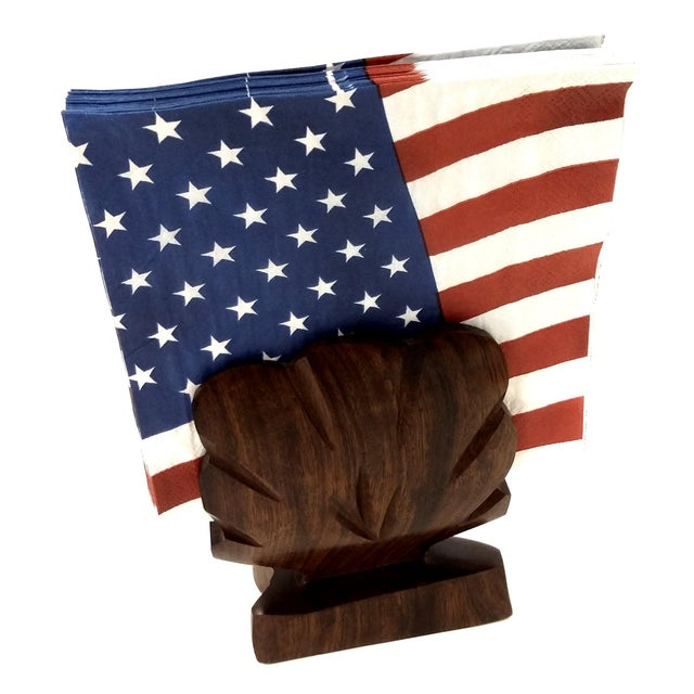 Rustic Heavy Ironwood Napkin or Letter Holder For Sale - Image 3 of 10